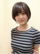 【morio池袋】小顔ラウンドショートレイヤー ブラウンアッシュ.3