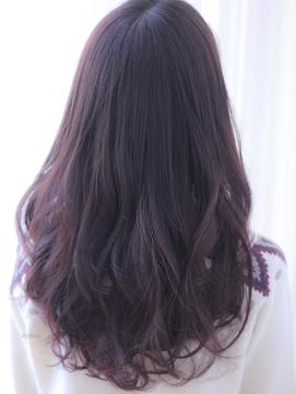 小顔透明感透け感暗髪ピンクパープルモーブアッシュくすみカラー
