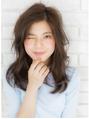 マーメイドアッシュで可愛すぎない大人ロング☆艶カール