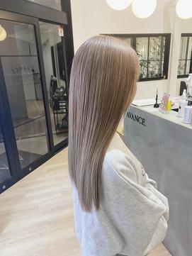 ミルクティーベージュ×ブランジュ×艶髪×髪質改善ダブルカラー