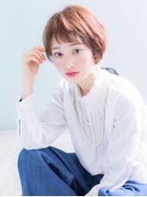 大人かわいい切りっぱなしボブ×オン眉バング【恵比寿 olyvel.2