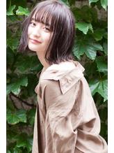 【BellaDolce日野達也】黒髪でもお洒落なパッツン×外ハネボブ .24