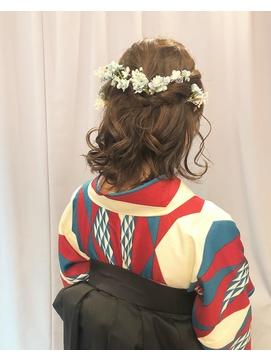 【下北沢*I'll b hair*】卒業式袴に似合う可愛いハーフアップ