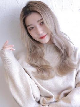 《Agu hair》海外風ハイトーン×リラックスウェーブ