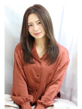 艶髪×センターパート×大人ロング【albero山崎】
