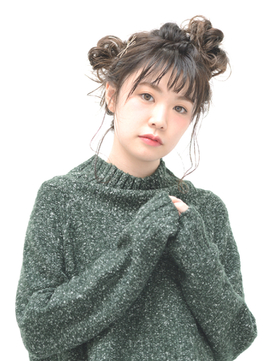 ゆるくしゅお団子アレンジ【EARTH町田】