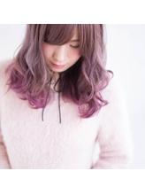 TECHRISE★波巻き×ヌーディーピンクグラデーション2by角谷 シルバー.35