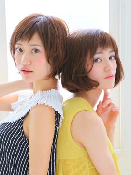 ★Chocolatイチオシ★ミルクティーカラー☆ショート&BOB STYLE