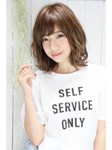 ロエナ ナチュラルひし形シルエット☆くびれミディワイドバング OL.56