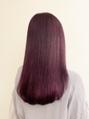 バイオレットカラー/艶髪/10代・20代/髪質改善