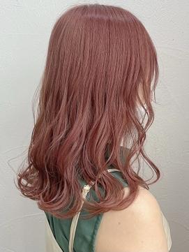 ピンクカラー くすみピンク オレンジカラー 【榎園由美】