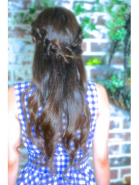 【Grous Hair】ふんわり編み込みハーフアップ