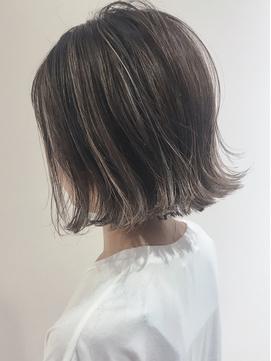 highlight style×切りっぱなしボブ★raffine 中村大輔