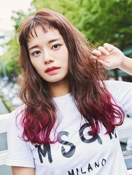 裾カラー(ピンク)×ラフウェーブ【KILLA原宿】