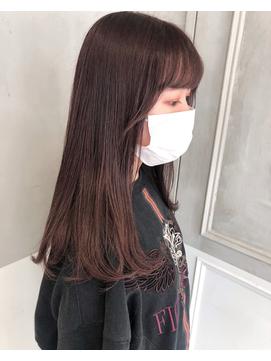 モーヴピンク × パツンセミディ