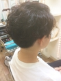 【micca下北沢】☆かきあげ前髪×ツーブロック刈り上げパーマ☆