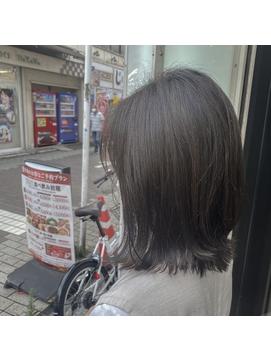 【落合優香】外ハネボブ×グレージュ