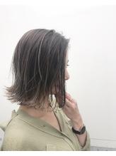 重すぎない切りっぱなしがポイント☆グレージュボブ.12