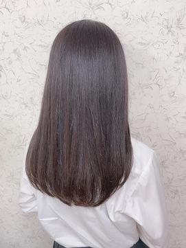 涼しげヘアナチュラルストレート/縮毛矯正イルミナカラー