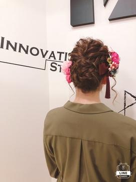 [INNO STA OYAMA]着物Hair成人式前撮りヘアセット
