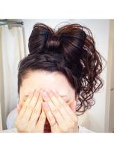 でかリボン盛り髪アップ 盛り髪.21
