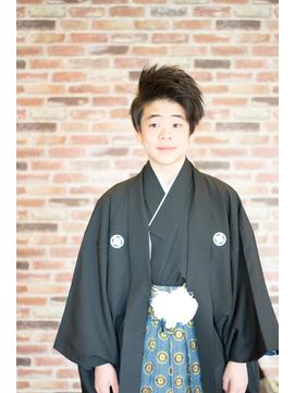 卒業式の主役◆紋付袴にバングアップスタイルで爽やかに◆