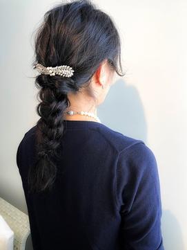 [高田馬場新宿池袋]ヘアセット×編みおろしスタイル×黒髪ロング