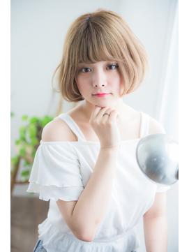 シルクベージュカラーボブ 【新宿】