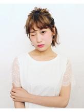 切りっぱなしボブ ハーフアップアレンジ.14