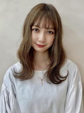 【金沢】10代20代 切りっぱなし 外ハネ シースルーバング