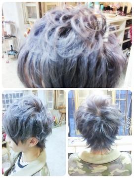 2020年春 Millci Wカラー アイスブルーのヘアスタイル Biglobe Beauty