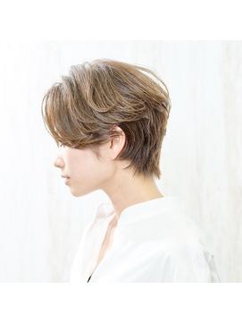 ◇nico◇エアリーショート・ひし形ショート・グレージュ