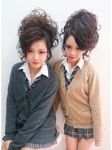 文化祭 盛り髪.2