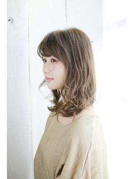 オン眉デザインカラー切りっぱなしボブ美髪マッシュウルフ/117