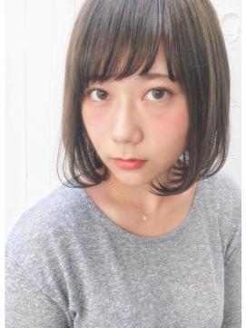ピュアボブ☆束感バング☆シースルーカラー