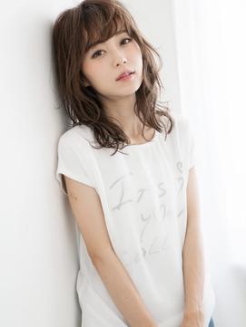 透け感バング×ひし形ライン☆ヴィンテージ&モードセミディ