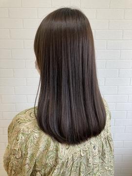 【LIBRE恵比寿】艶髪☆弱酸性ストレート×オリーブブラウン