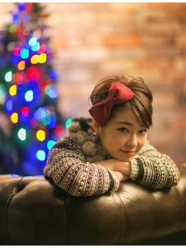 クリスマスコーデverショートアレンジ×極美髪retroクラシカル1