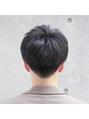 黒髪ナチュラルマッシュ