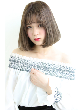 【Laetus】縮毛矯正xシルバーグレージュデザインカラー
