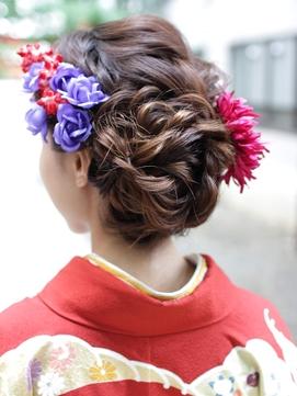 《Hair resort粋》ふんわりお団子[新宿][新宿三丁目][袴ヘア]