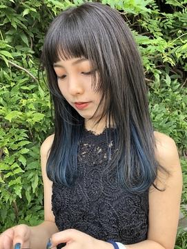【LAPENSEE Karen】ネオロングウルフ×インナーブルー