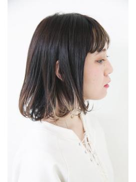 黒髪ボブ×インナーカラー【Baco.】