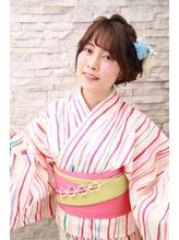 花火大会、夏祭りにオススメヘアセット(^_^).12