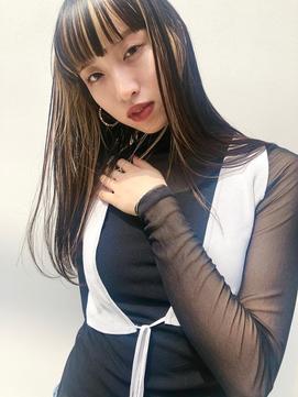 ◆miel&melgina吉祥寺◆ワイドバング フェイスラインカラー