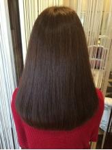 髪質・クセに合わせた施術で、ツヤのある柔らかい質感を再現!!上品な大人ナチュラルストレートへ☆