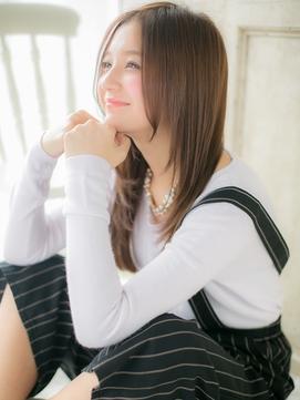 *AZUL亀有*…かきあげ前髪透け感艶カラーロングレイヤーc