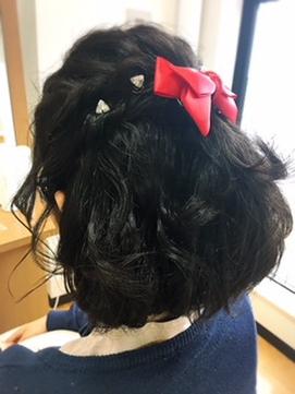 発表会ヘアアレンジ 担当 松井恵子