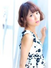 【RUCE】大人クラシカルボブ★透明感パーマ×美髪ケアカラー まとめ髪.54