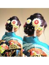 和装ヘア 編み込みまとめ髪アレンジ まとめ髪.19